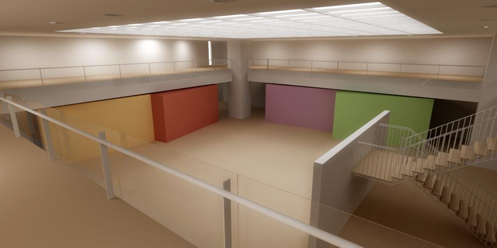 Imagini simulare proiect Nimic la MNAC