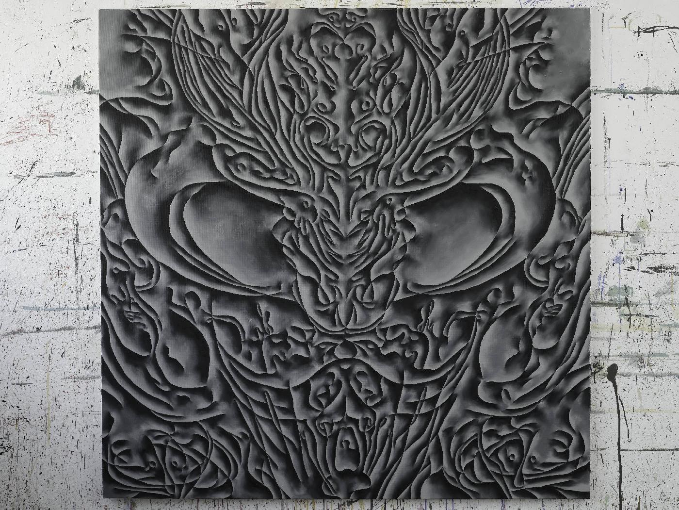 Mira, ulei pe panza, 07-2012, 140x140 cm